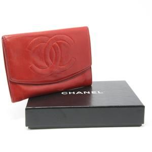CC Lambskin Leather Flap French Wallet